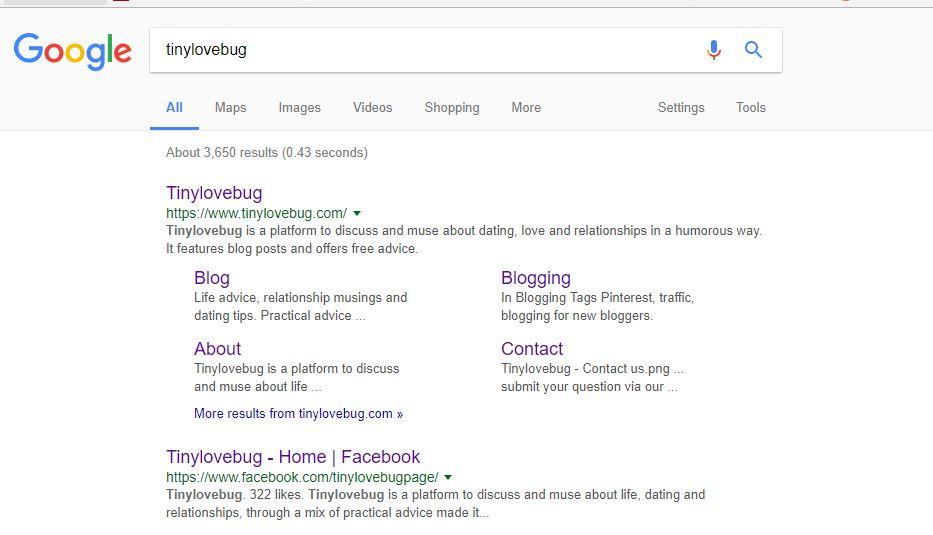 Google SERP GRID Tinylovebug