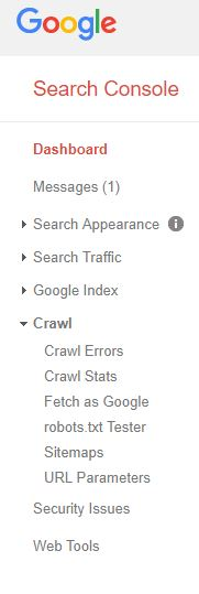 Google Search Console fetching