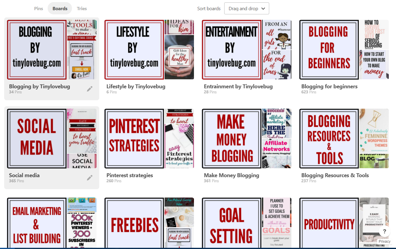 How to use pinterest for your blog: brand your profile