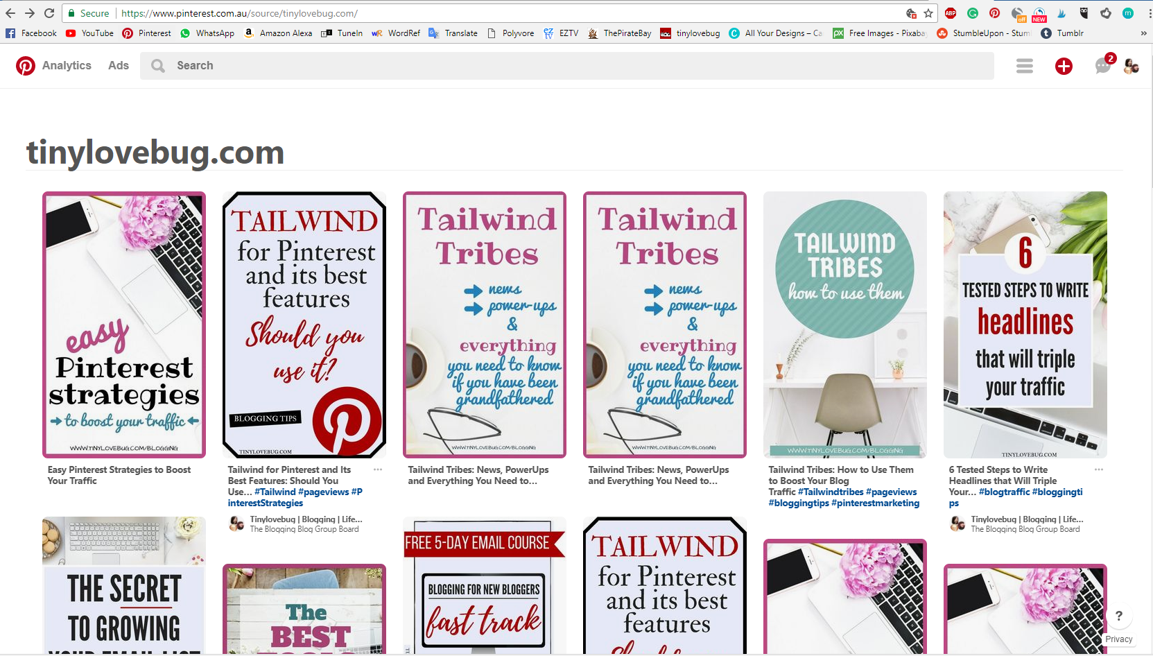 How to use Pinterest for your blog: use the Pinterest source page