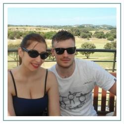 Lucrezia & her husband Sam