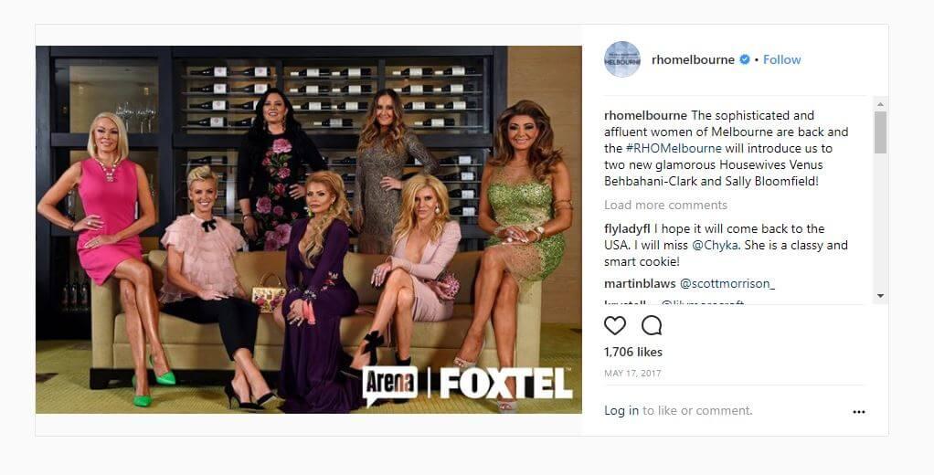 RHOM Real Housewives of Melbourne Instagram