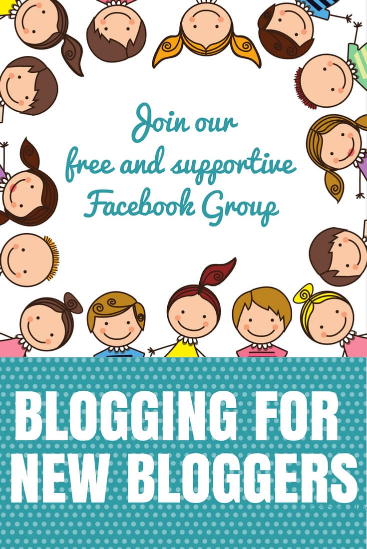 Join blogging for new bloggers facebook group