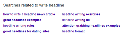 Write headlines