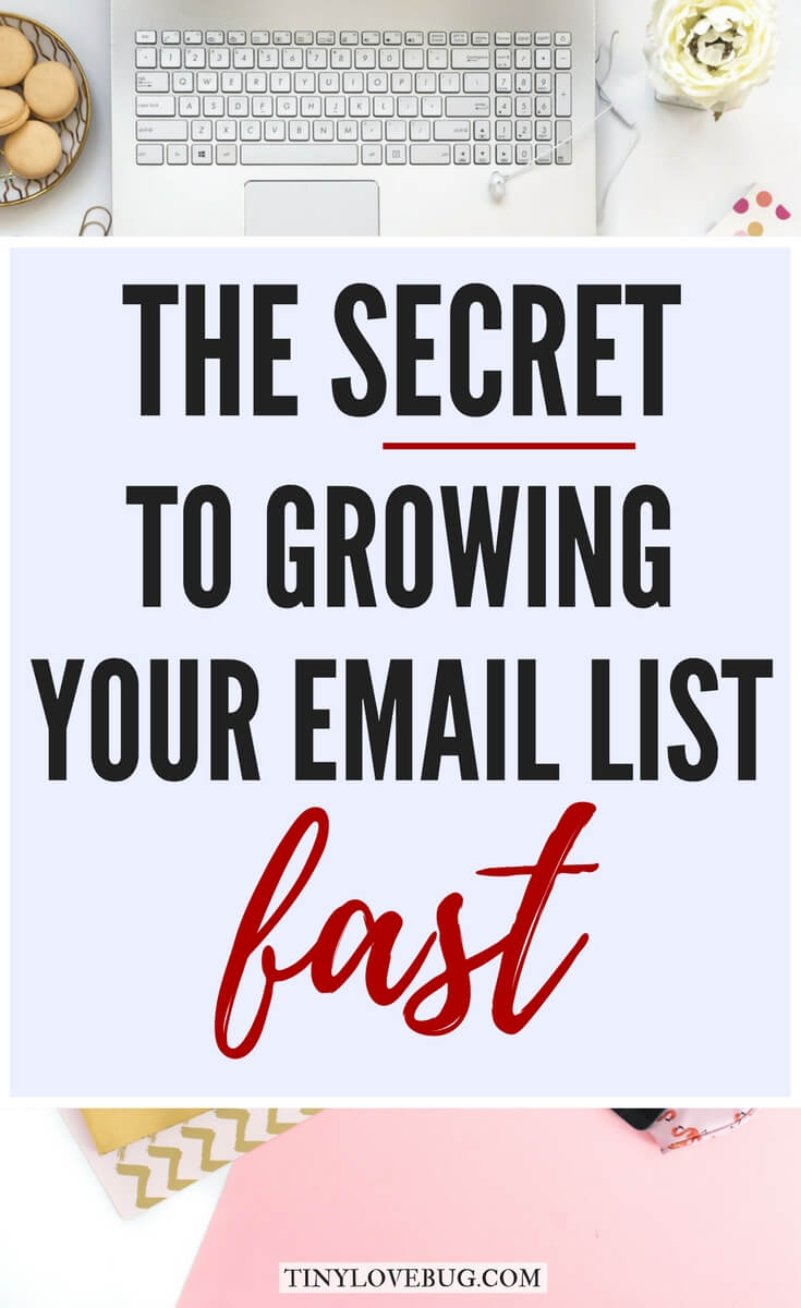 Your email list is the most valuable asset to your blog and most powerful marketing tool you will ever have as a blogger. Here are 9+ proven and easy tips to increase subscribers exponentially and the secret to growing your email list fast! #emailmarketing #listbuilding