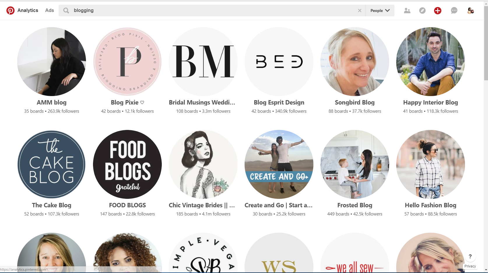 How to find Pinterest group boards: Look for influencer in Pinterest