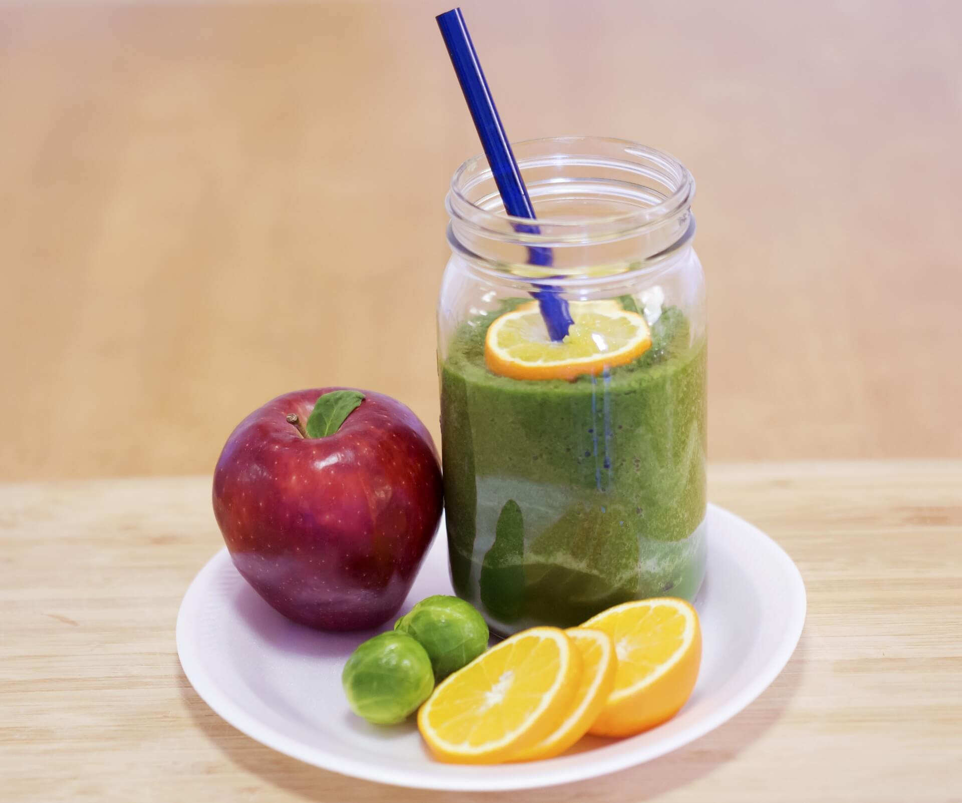 Detox with a green smoothie for breakfast