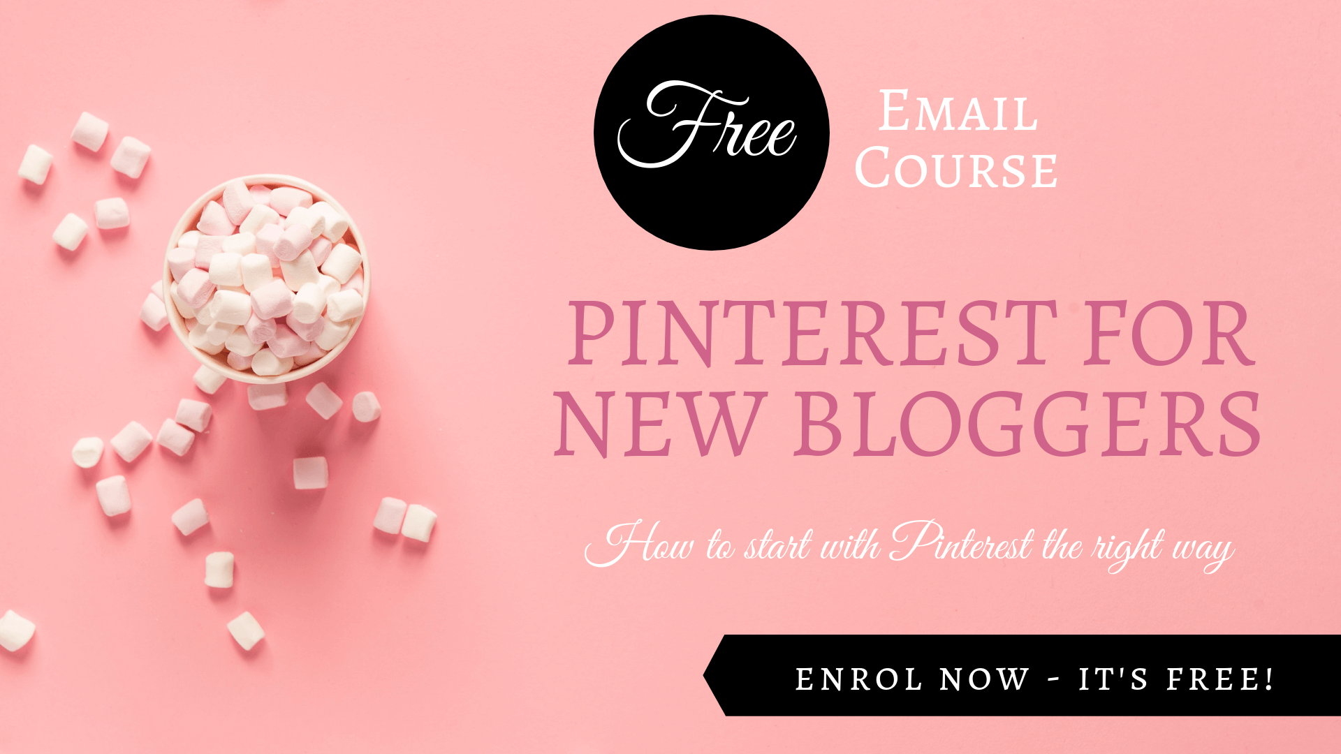 Pinterest for New Bloggers Free course