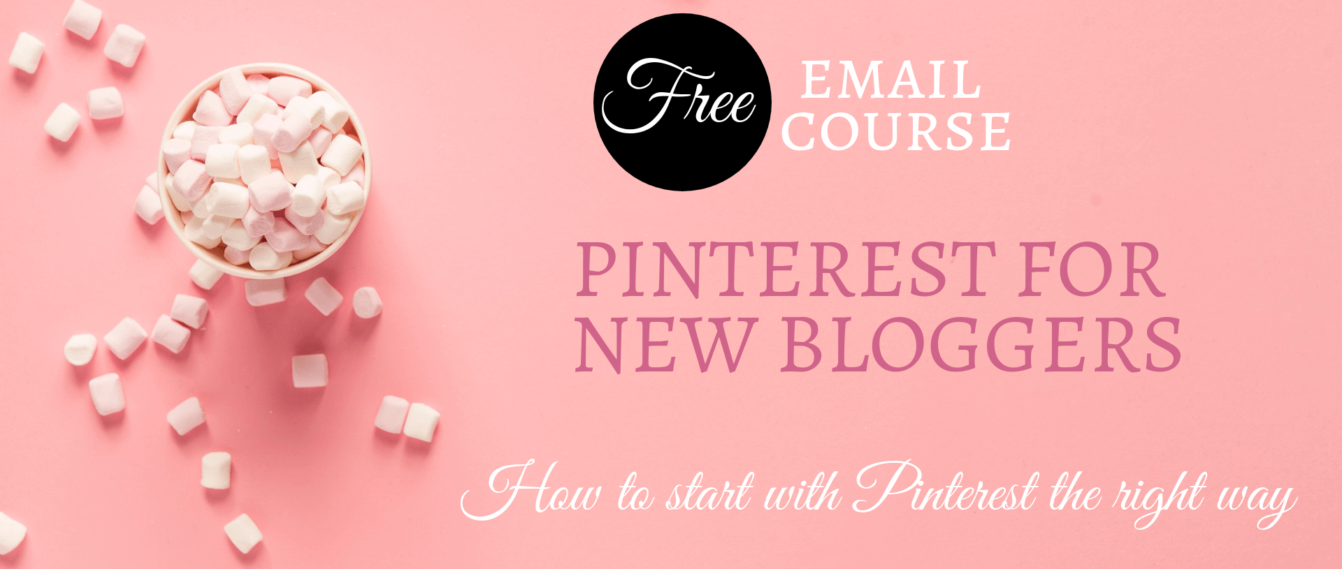 Pinterest for new bloggers free course.