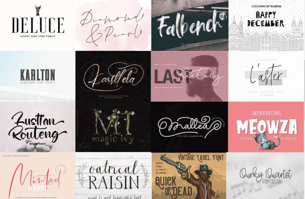 More fonts in December Bundle
