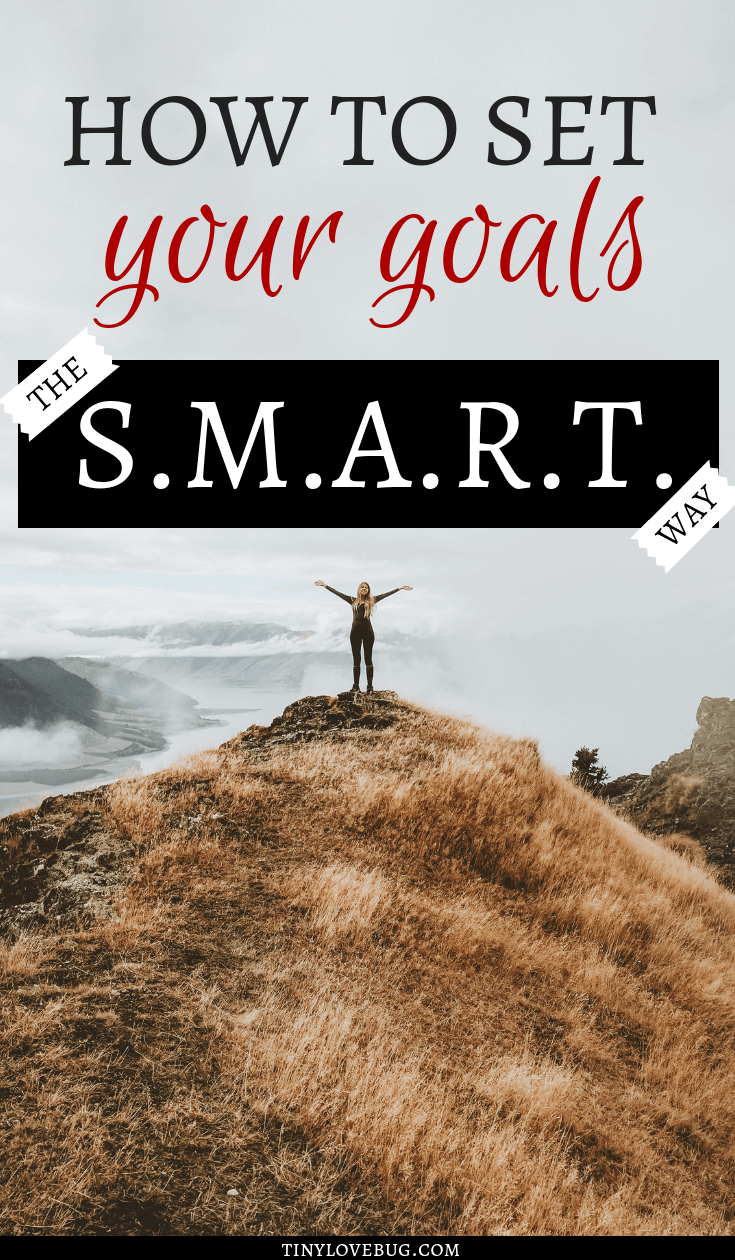 Make your goal setting easier and more effective, be S.M.A.R.T. on setting your goals. If you want to crush your goals using the S.M.A.R.T. goals technique is the way to go. If you have heard of SMART goal setting but you know how to use this technique, read this for a step by step guide. #GoalSetting #SMARTgoal #Slayyourgoals