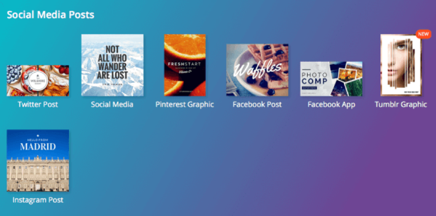 Create your graphics with Canva
